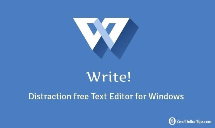 Write – Distraction Free Text Editor for Windows