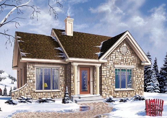 House Plan 64993 | Plan with 1022 Sq. Ft., 2 Bedrooms, 1 Bathrooms