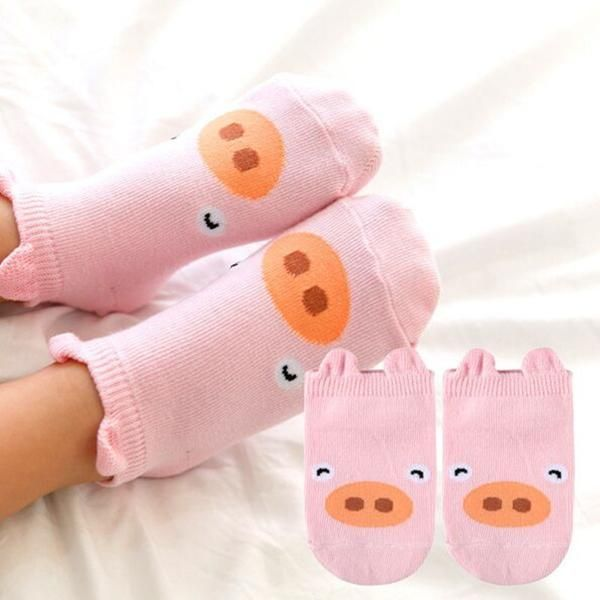 Baby Kids Non-Slip Cute Cartoon Cotton Socks Newborn Toddler Floor Socks WE