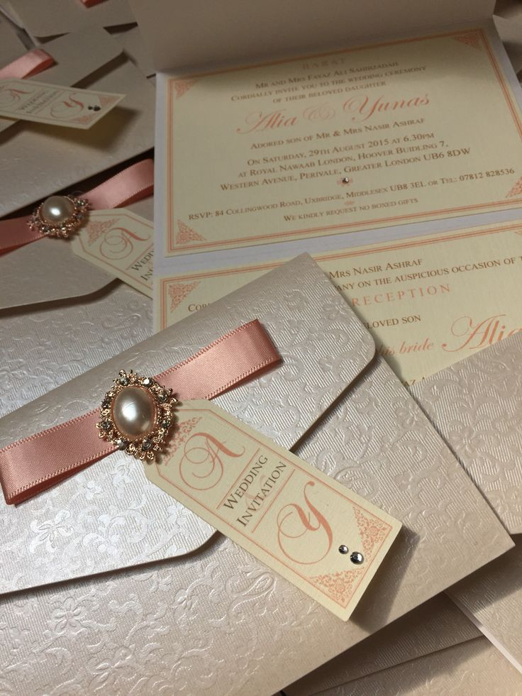 invitation card wordings for indian wedding%0A Peach pocketfold  Indian wedding invitations  u     bespoke luxury stationery  ideas  Handmade by Perfect Day