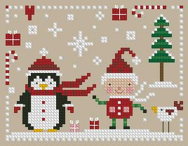 The Floss Box | Santa's Helpers Cross Stitch