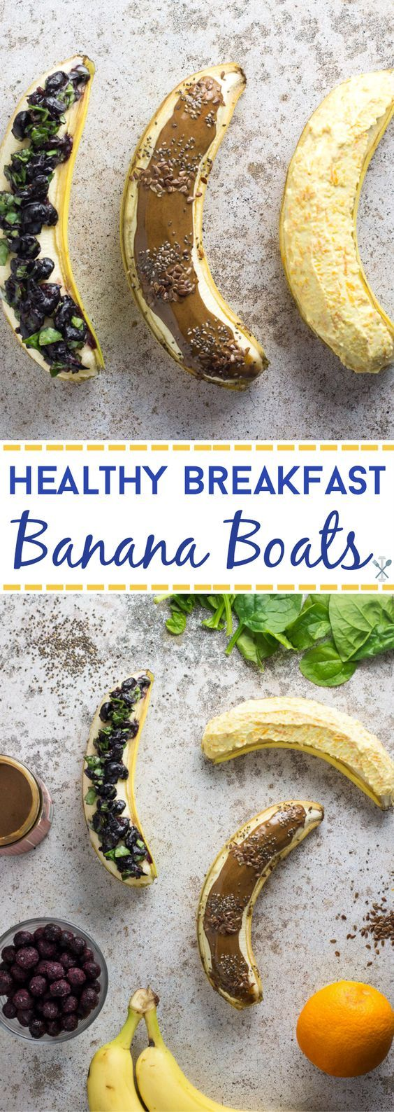A new spin on quick and healthy breakfast - these healthy breakfast banana boats are packed with nutrients and the easiest way to breakfast on the go. Paleo and vegan
