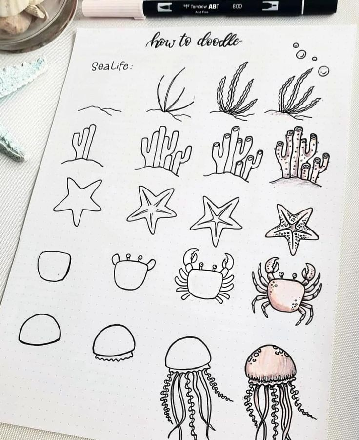 60 Doodle-Tutorials für Ihr Bullet Journal #sea…