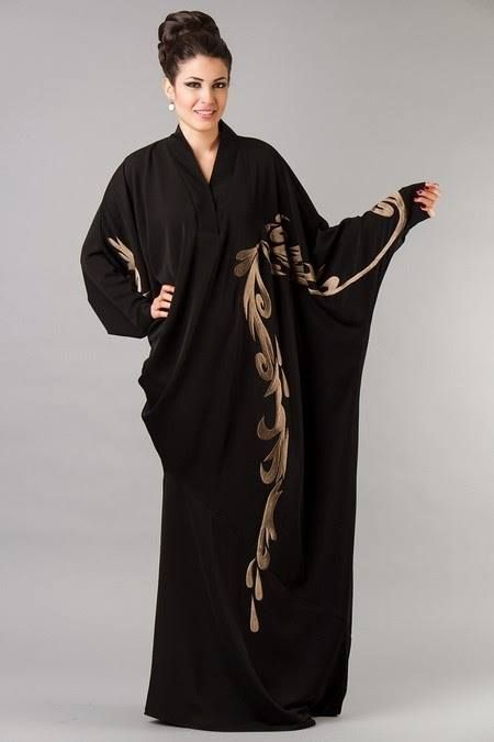 New Collection Of Arabic Abaya For Girls 2014-2015