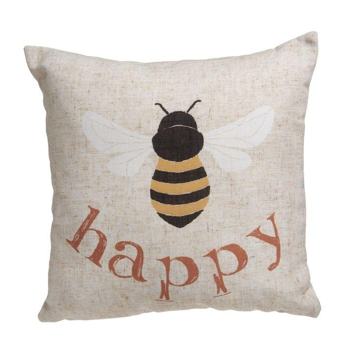 Wilko Be Happy Cushion 43x43cm at wilko.com