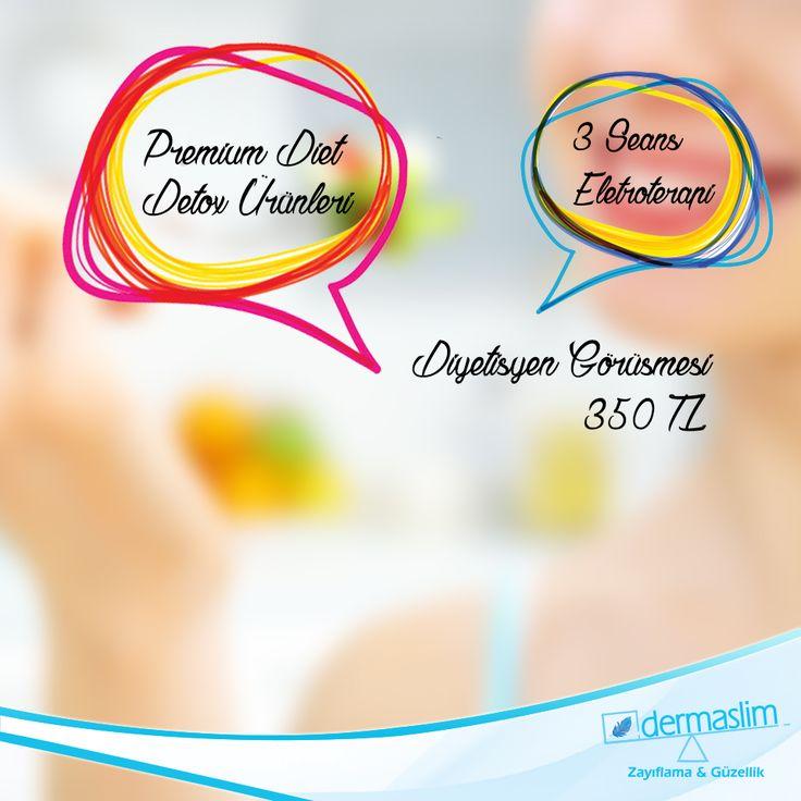 Diyet Hizmetimizde Kampanya ! Premium Diet Detox Ürünleri, 3 Seans Elektroterapi ve Diyetisyen Görüşmesi kısa süreliğine 350 TL !