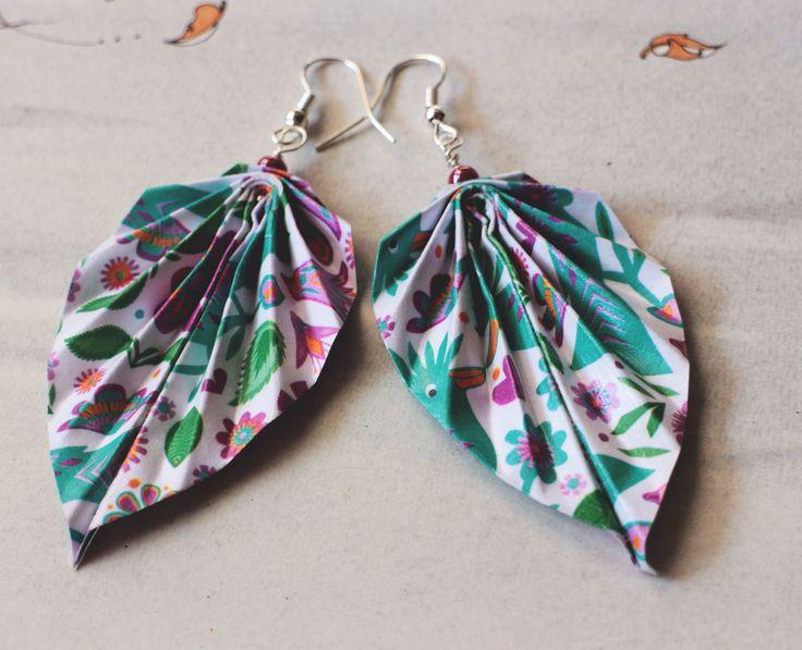Orecchini Origami Foglia #zucchesgusciate