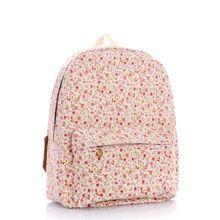 Promoção 2015 Super qualidade de exportação clássicos mochilas Lady Canvas escola Bags rosa Florals impressão sacos de estilo coreano mochilas(China (Mainland))