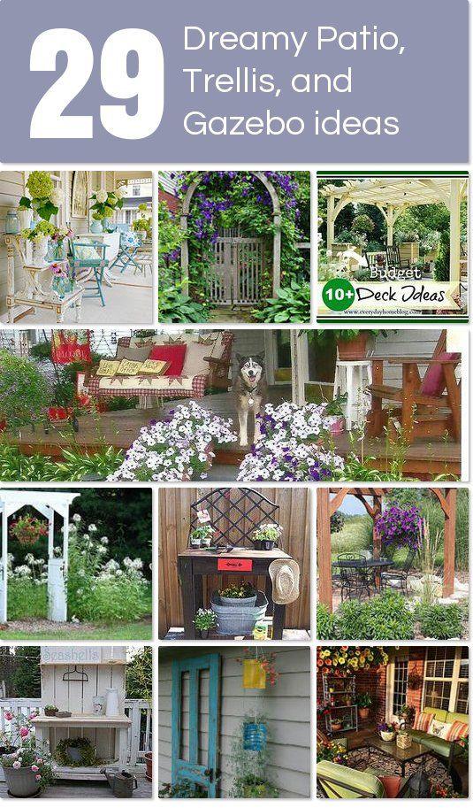 29 beautiful and dreamy patio, trellis and gazebo ideas.