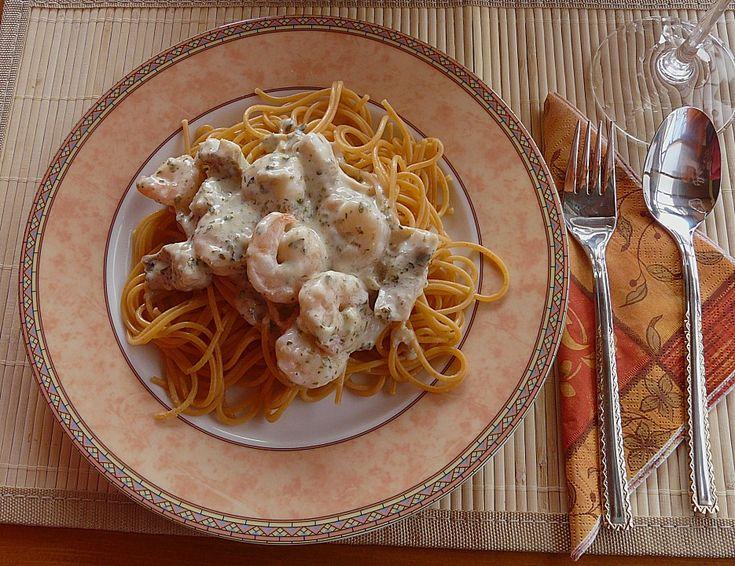 Pikante Tilapia - Garnelen - Spaghetti, ein beliebtes Rezept aus der Kategorie Kochen. Bewertungen: 6. Durchschnitt: Ø 4,0.