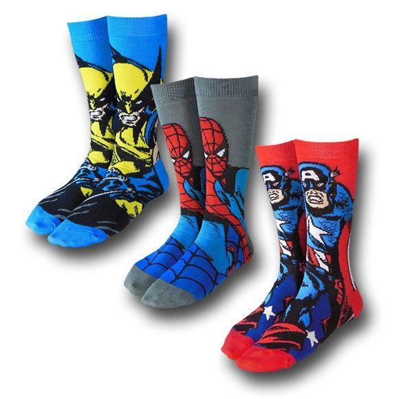 Marvel Heroes Crew Socks