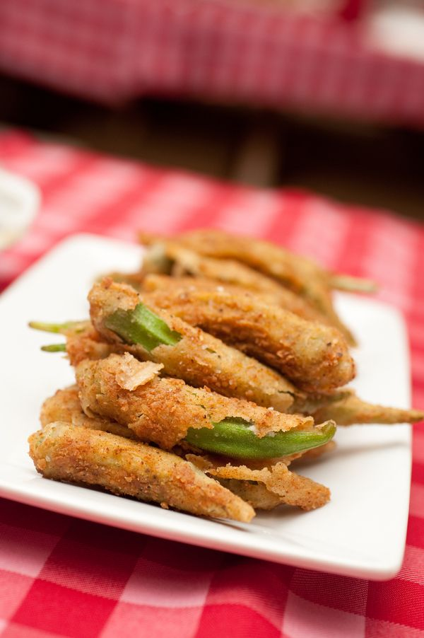 Classic fried okra. Low Country Rehearsal Dinner « Southern Weddings Magazine #LillyPulitzer #SouthernWeddings