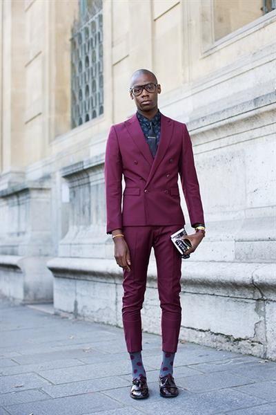 Мужской фиолетовый пиджак