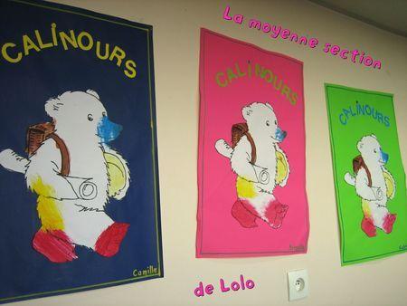 des affiches Calinours va à l'école