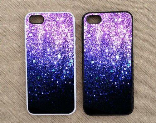 Phone cover: glitter, phone case, purple, iphone 5 s, iphone case, cover, phone - Wheretoget #phone