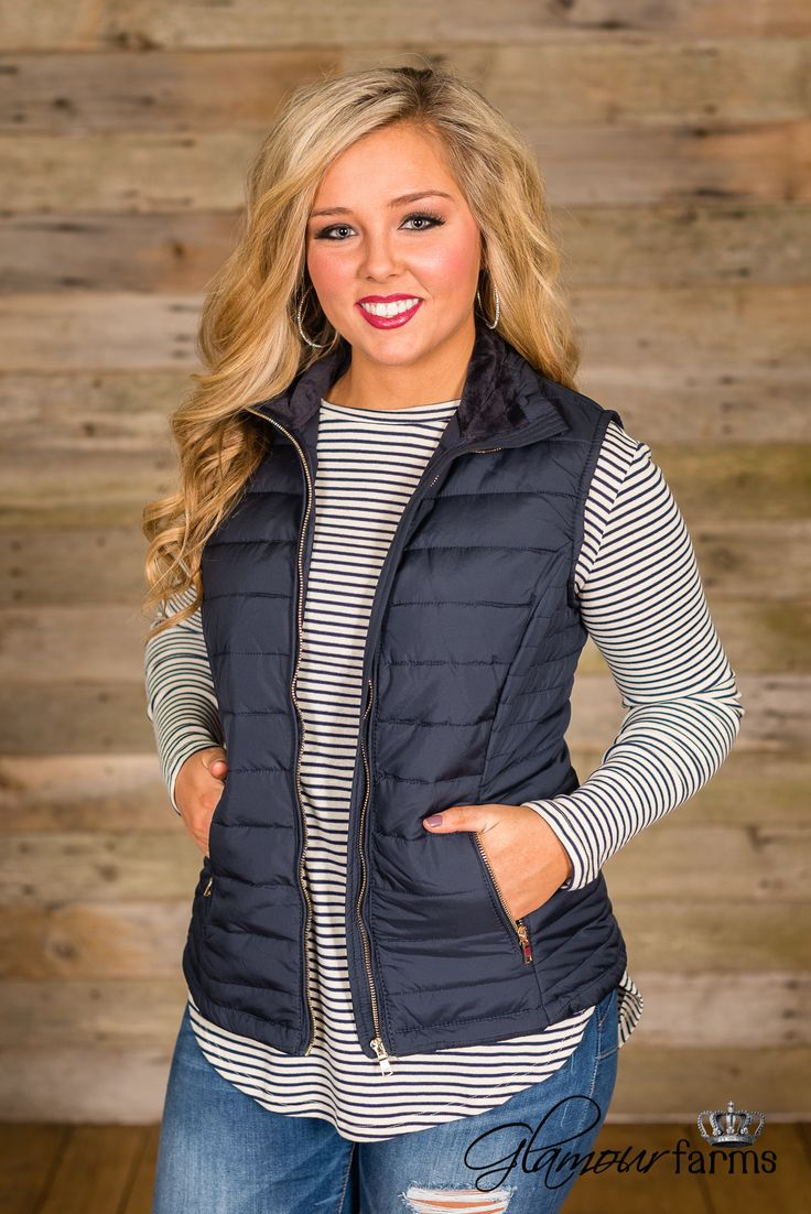 **Also Offered In XS** Traveling Kind Quilted Vest is a great cool-weather layering piece. This lightweight quilted vest features gold zipper hardware down the front and side pockets. Soft faux fur de