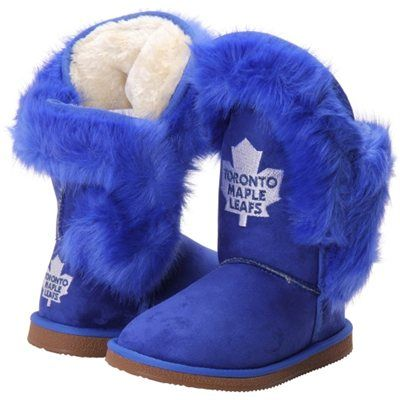 Women's Toronto Maple Leafs Cuce Royal Blue Champions Boots