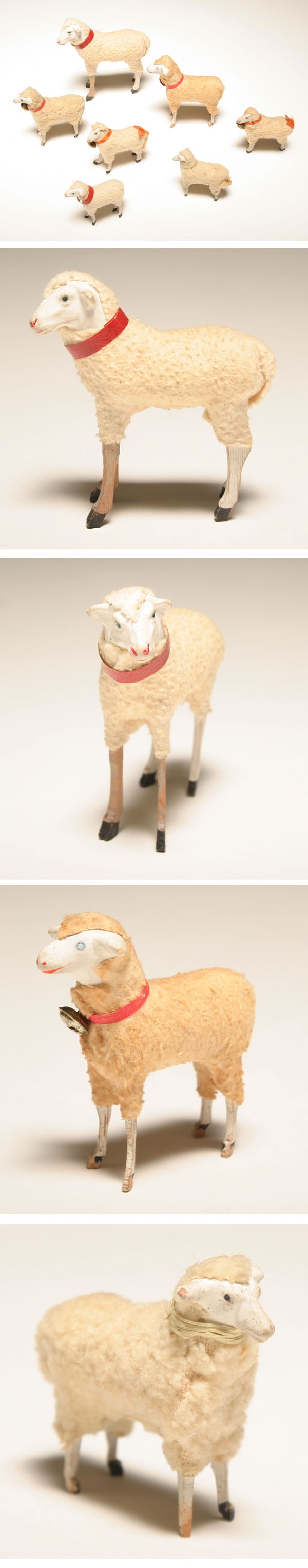 Antique Putz Sheep. Repinned by www.mygrowingtraditions.com