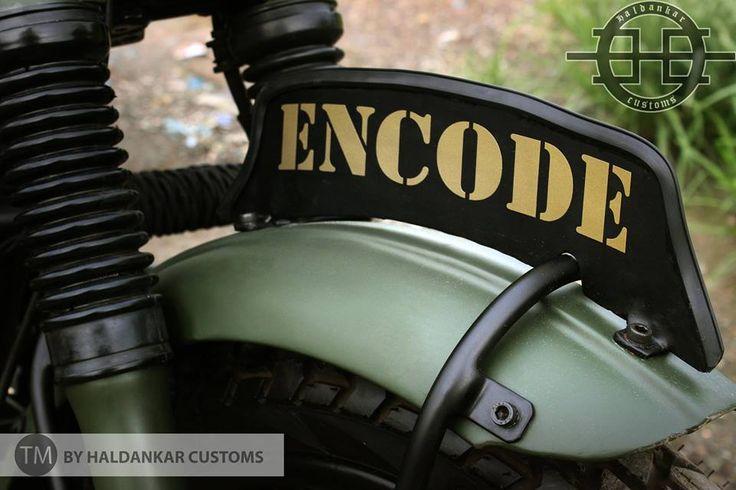 Military Olive Green painting Royal Enfield Classic Haldarkar Customs