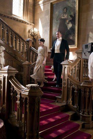 Main Staircase at Downton Abbey