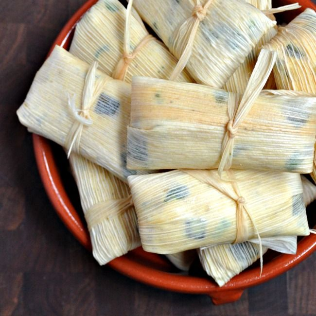 Monterey Jack and Green Chile Tamales - Pinch and Swirl