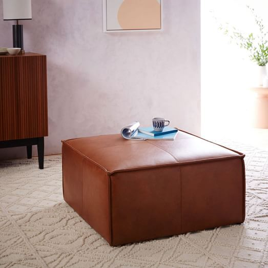 """was originally thinking something like this for the ottoman - the larger 36"""" square one."""