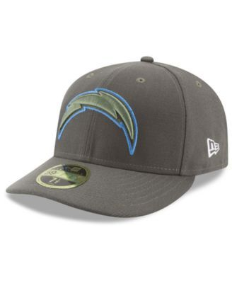 New Era Los Angeles Chargers Salute To Service Low Profile 59FIFTY Fitted Cap - Green 7 1/4