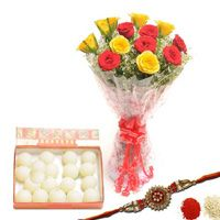 Send Red n Yellow Rakhi Hamper Nagpur