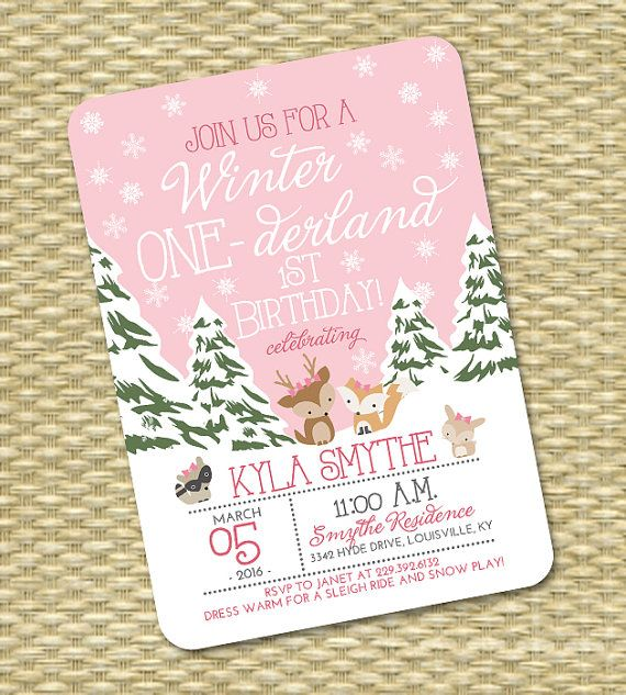 best 25+ winter onederland ideas on pinterest | winter wonderland, Birthday invitations