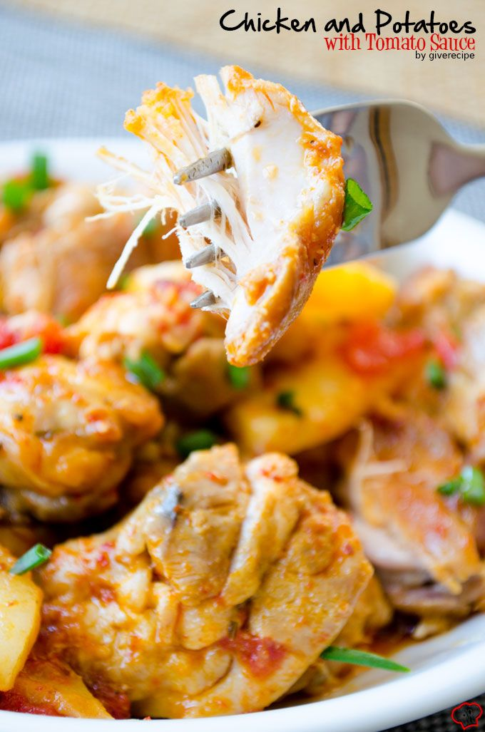 Chicken and Potatoes with Tomato Sauce