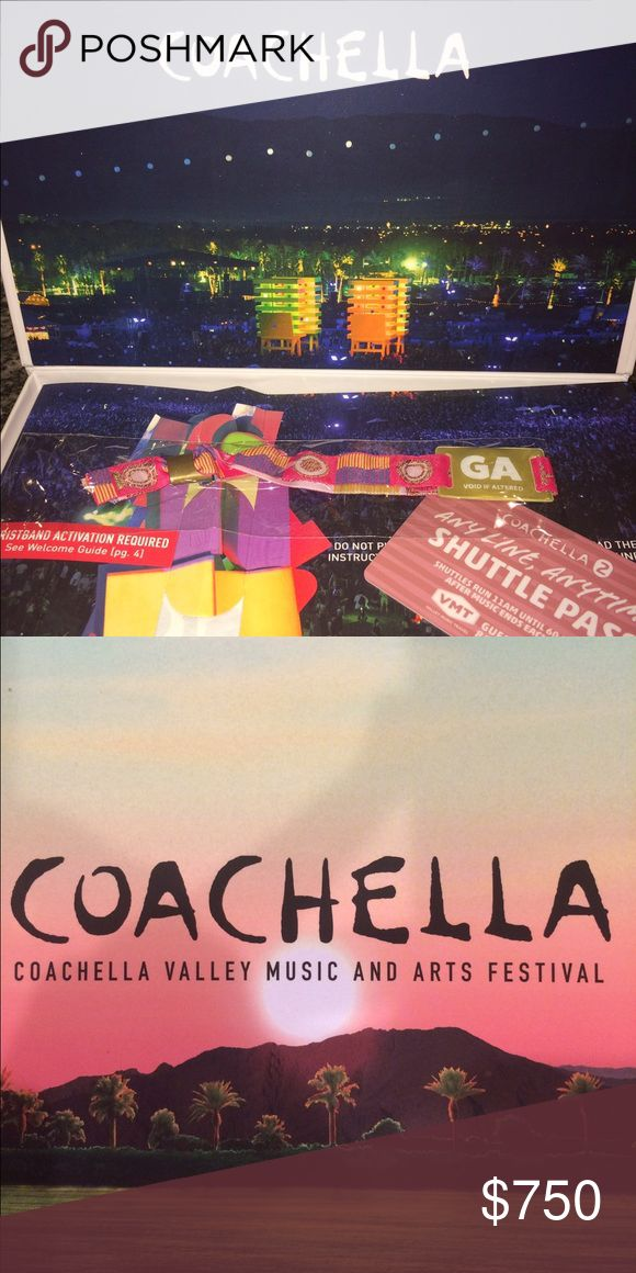 Coachella Weekend 2 GA w/Shuttle Pass I have two Coachella Weekend 2 general admission passes with shuttle pass. Just got them in the mail. If you live in San Diego please feel free to message me, to save yourself the shipping fee. They are unactivated. Please contact me with any questions 😊 Other