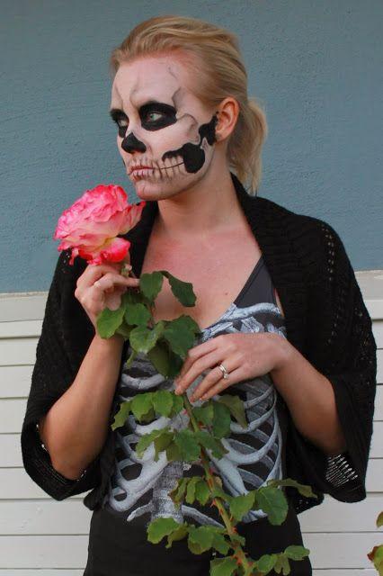 No shopping, Mrs Dilley!: Skin and bones - Skeleton Face Makeup