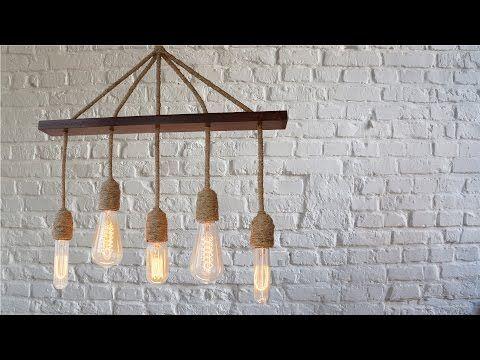Ретро люстра своими руками. Лампа Эдисона. #DIY., My Crafts and