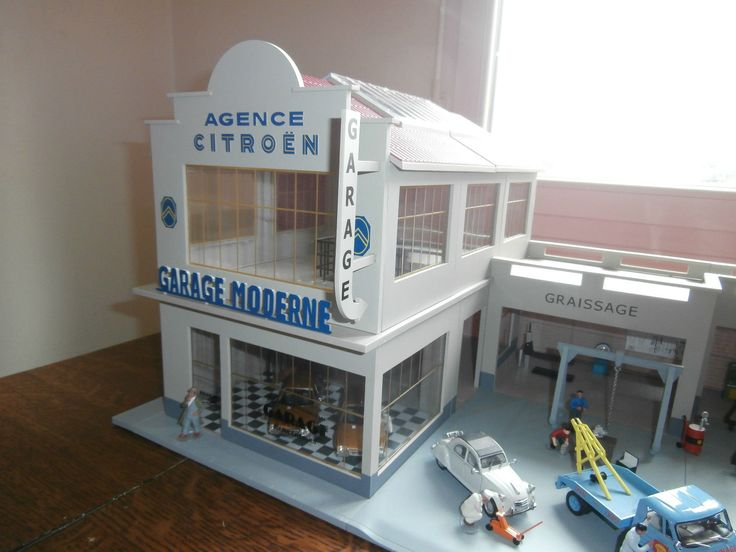 345 best toy service station images on pinterest garages carriage house and garage - Garage miniature citroen ...