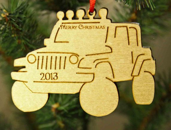Personalized Laser engraved Off Road Jeep Christmas ornament