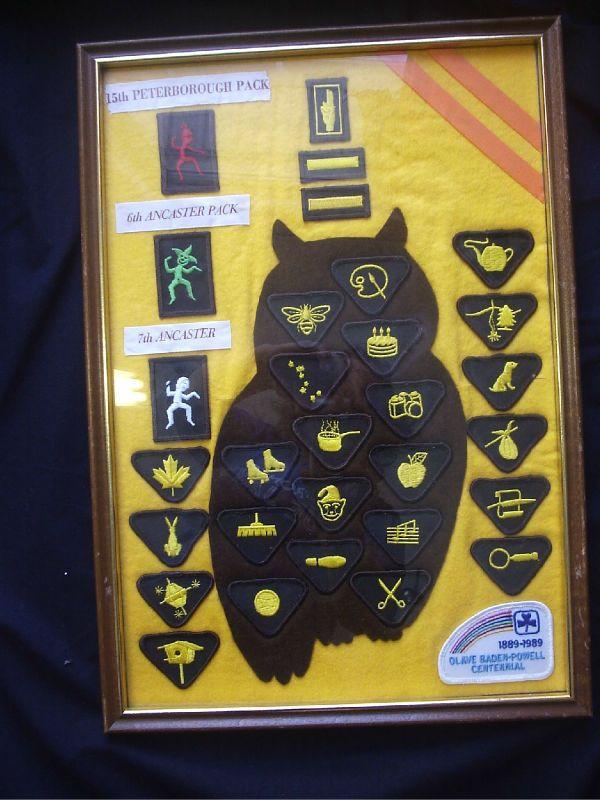Brownie Girl Scouts Brown OWL Badge ART Canada Ontario   eBay