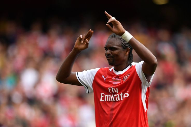 The Hat-trick hero, Nwankwo Kanu. Arsenal Legends 4-2 Milan Glorie (September 2016)
