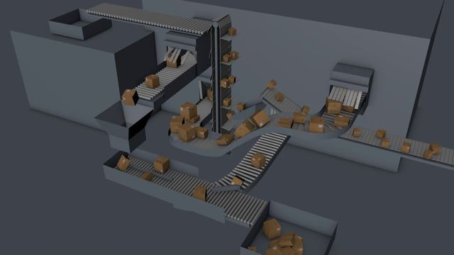 A fully dynamic and very sophisticated sorting office that treats fragile parcels extremely well...
