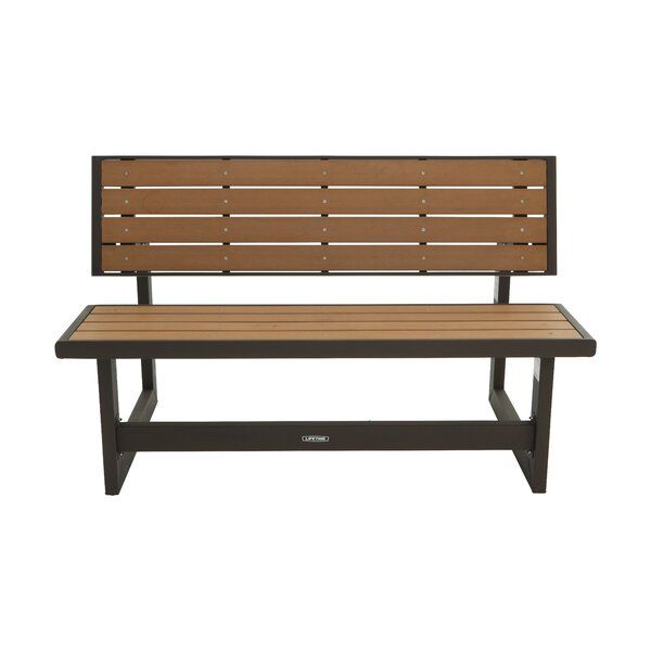 The Lifetime Convertible Wood And Metal Park Bench Is A Convertible Bench That Can Be Used Both As A Bench Plastic Garden Bench