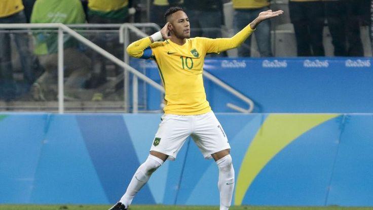 Neymar après son but face à la Colombie Juegos Olímpicos 2016: Horario y donde ver Brasil - Honduras de fútbol  http://www.eurosport.es/futbol/rio/2016/juegos-olimpicos-2016-horario-y-donde-ver-brasil-honduras-de-futbol_sto5724000/story.shtml