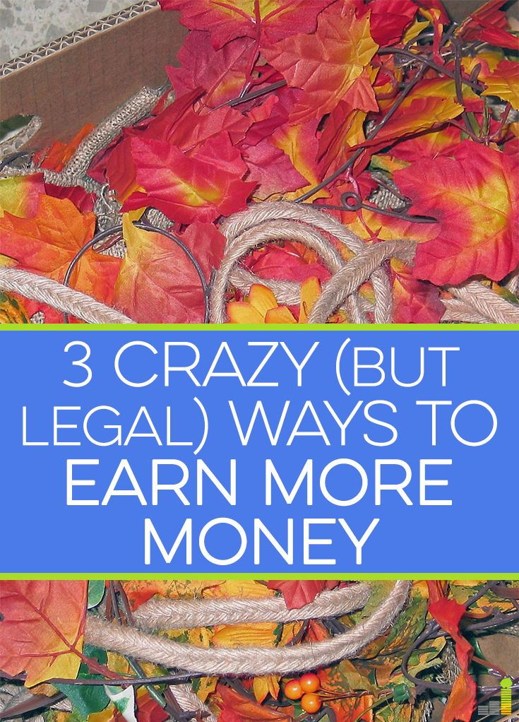 Do you want to earn more money? Of course you do! Here are 3 crazy, yet very legal, ways to make extra money and perhaps make a career out of along the way.