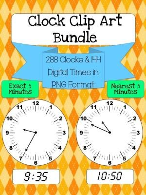 Best 25 blank clock ideas on pinterest learn to tell time file includes 144 clocks to the nearest 5 minute mark and exact 5 minute mark for each hour plus 144 digital time images to the exact 5 minute mark pronofoot35fo Image collections