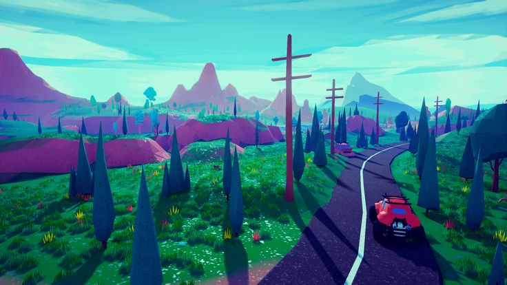 Low Poly Stylized Environment by Emek Ozben in Environments - UE4 Marketplace