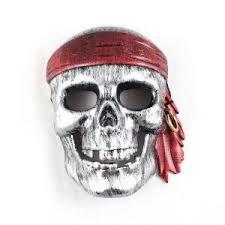 Sej pirat maske i sølv farve til børn når de skal udklædes som pirat og sørøver. Køb denne flotte pirat maske med dødningehoved hos sjovogkreativ.dk