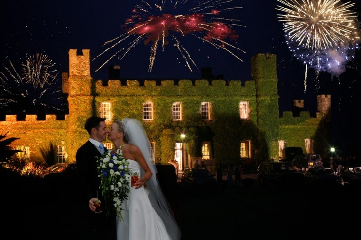 Fireworks over the Tregenna Castle Hotel