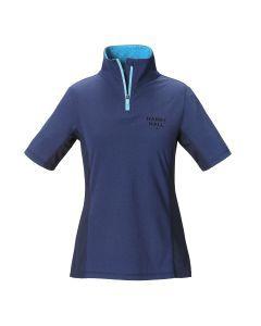 Harry Hall Dartford Womens Polo Shirt Blue