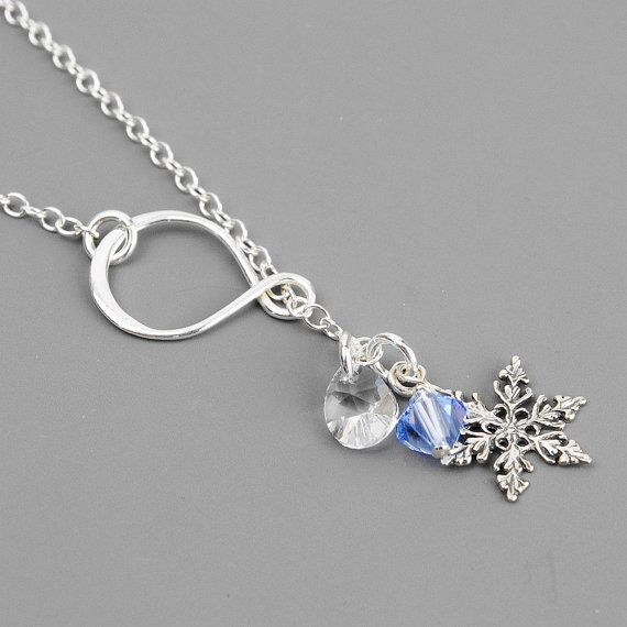 Silver Snowflake Necklace Sterling Silver by MyDistinctDesigns, $32.00
