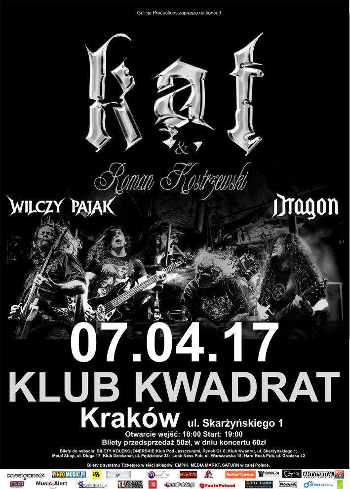 Galeria zdjęć z koncertu Kat & Roman Kostrzewski w Krakowie-> http://heavy-metal-music-and-more.blogspot.com/2017/04/kat-roman-kostrzewski-w-krakowie-galeria.html