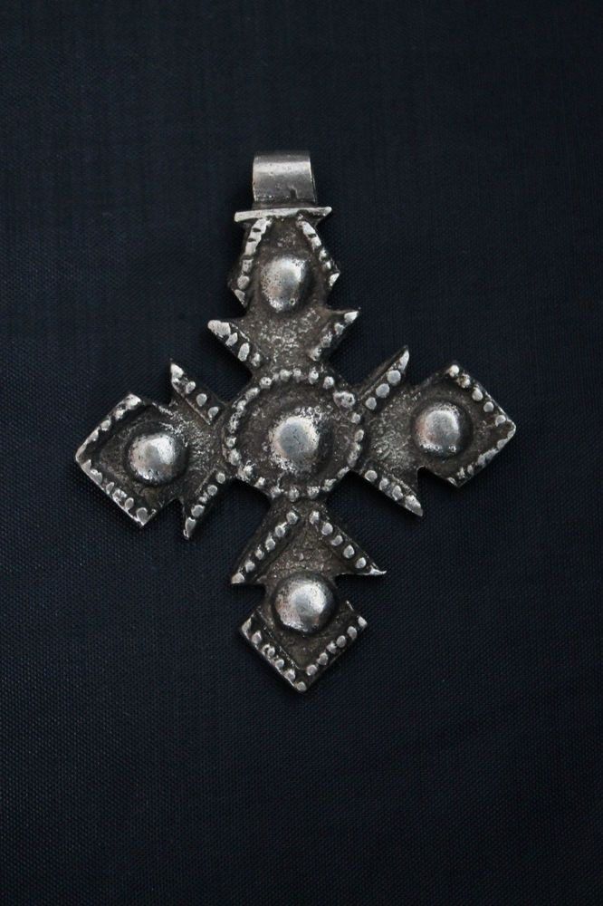 Äthiopien: Kreuz Anhänger alter Schmuck. Etiopia, Ethiopia: aged cross pendant