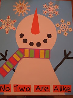 Winter bulletin board ~ unique